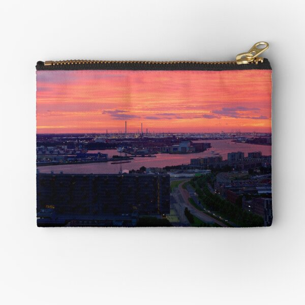 Sunset on River Nieuwe Maas, Rotterdam, (from Euromast) Zipper Pouch