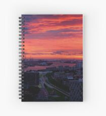 Sunset on River Nieuwe Maas, Rotterdam, (from Euromast) Spiral Notebook