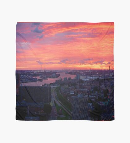 Sunset on River Nieuwe Maas, Rotterdam, (from Euromast) Scarf