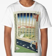 Hiroshige - Asakusa Rice Fields During The Festival Of The Cock Long T-Shirt