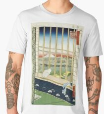 Hiroshige - Asakusa Rice Fields During The Festival Of The Cock Men's Premium T-Shirt