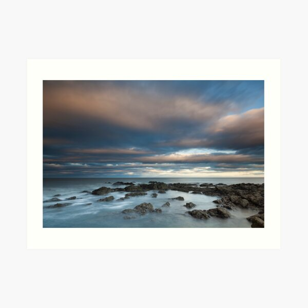 north sea sunset Art Print