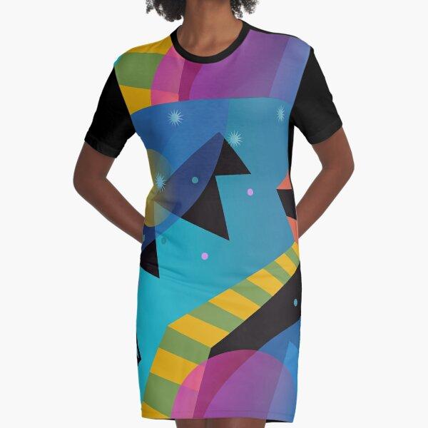 Stairway to Stars Graphic T-Shirt Dress
