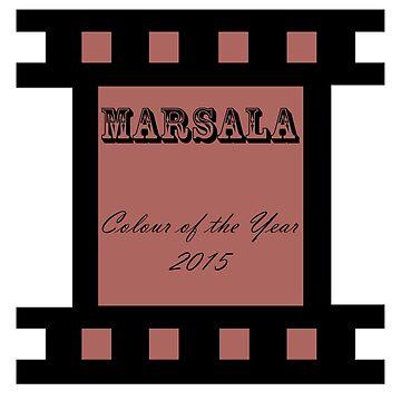 Beautiful Cushions/ T- Shirt Marsala Pantone colour of the year 2015 by ozcushions