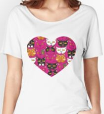 Cats muzzles Women's Relaxed Fit T-Shirt