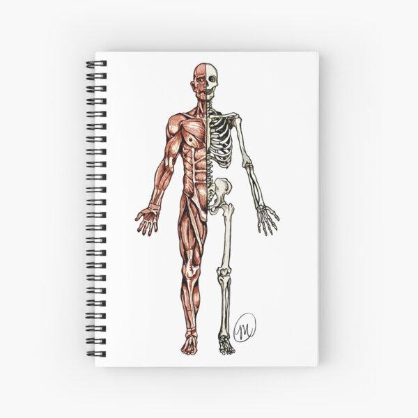 Half Muscle - Half Skeleton Spiral Notebook