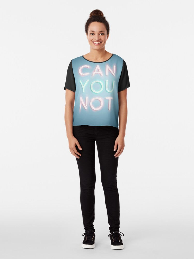 Alternate view of Can You Not Chiffon Top