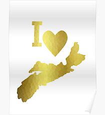 Gold Nova Scotia Poster