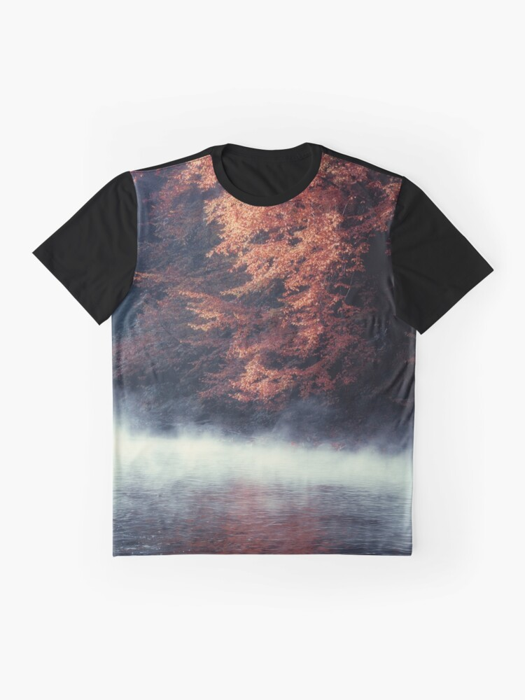 Alternate view of Nature*s Mirror - Fall at the River Graphic T-Shirt
