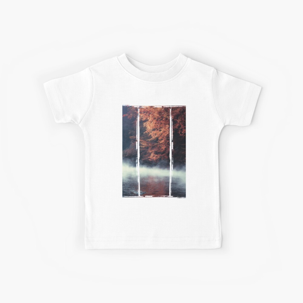 Nature*s Mirror - Fall at the River Kids T-Shirt