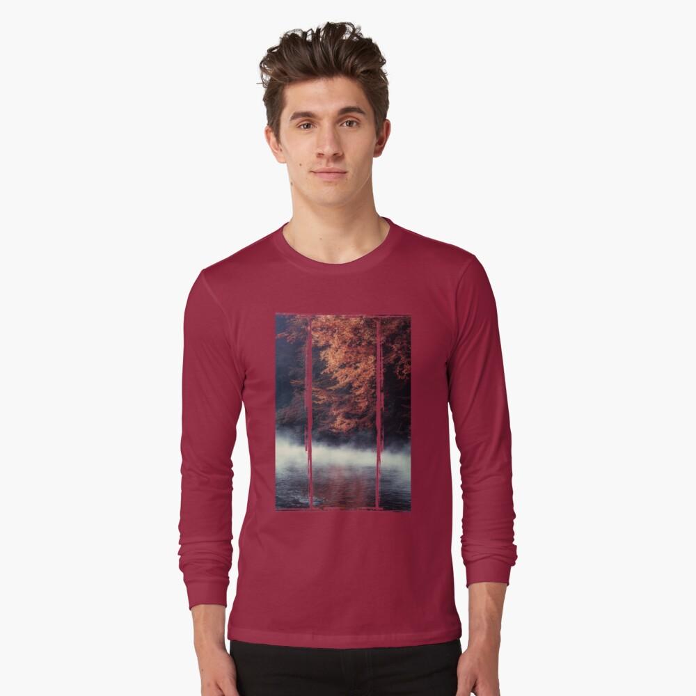 Nature*s Mirror - Fall at the River Long Sleeve T-Shirt