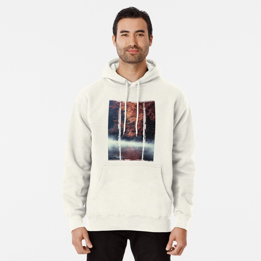 Nature*s Mirror - Fall at the River Pullover Hoodie
