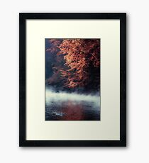 Nature*s Mirror - Fall at the River Framed Print