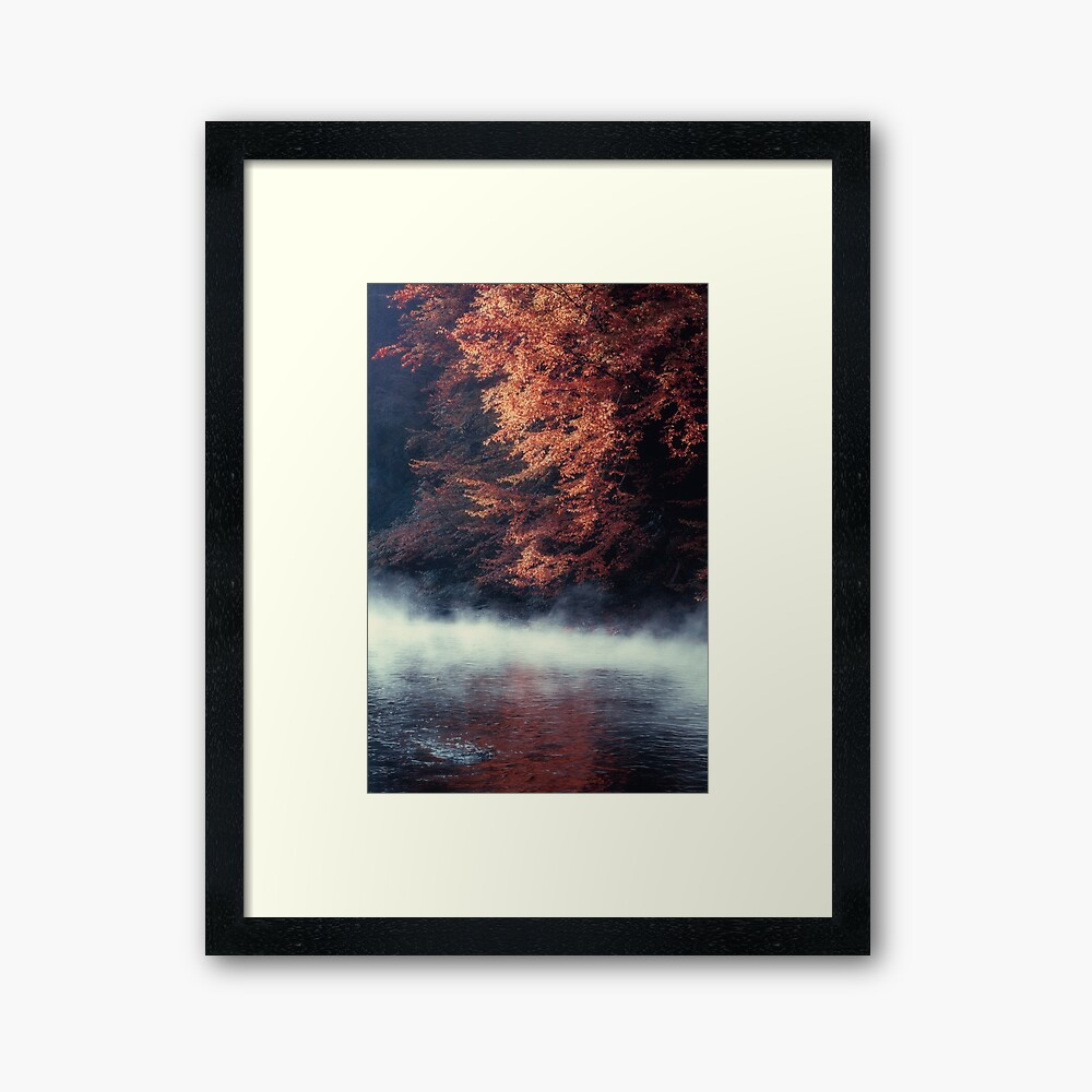 Nature*s Mirror - Fall at the River Framed Art Print