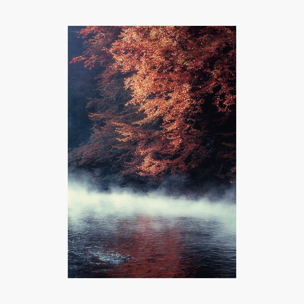 Nature*s Mirror - Fall at the River Photographic Print