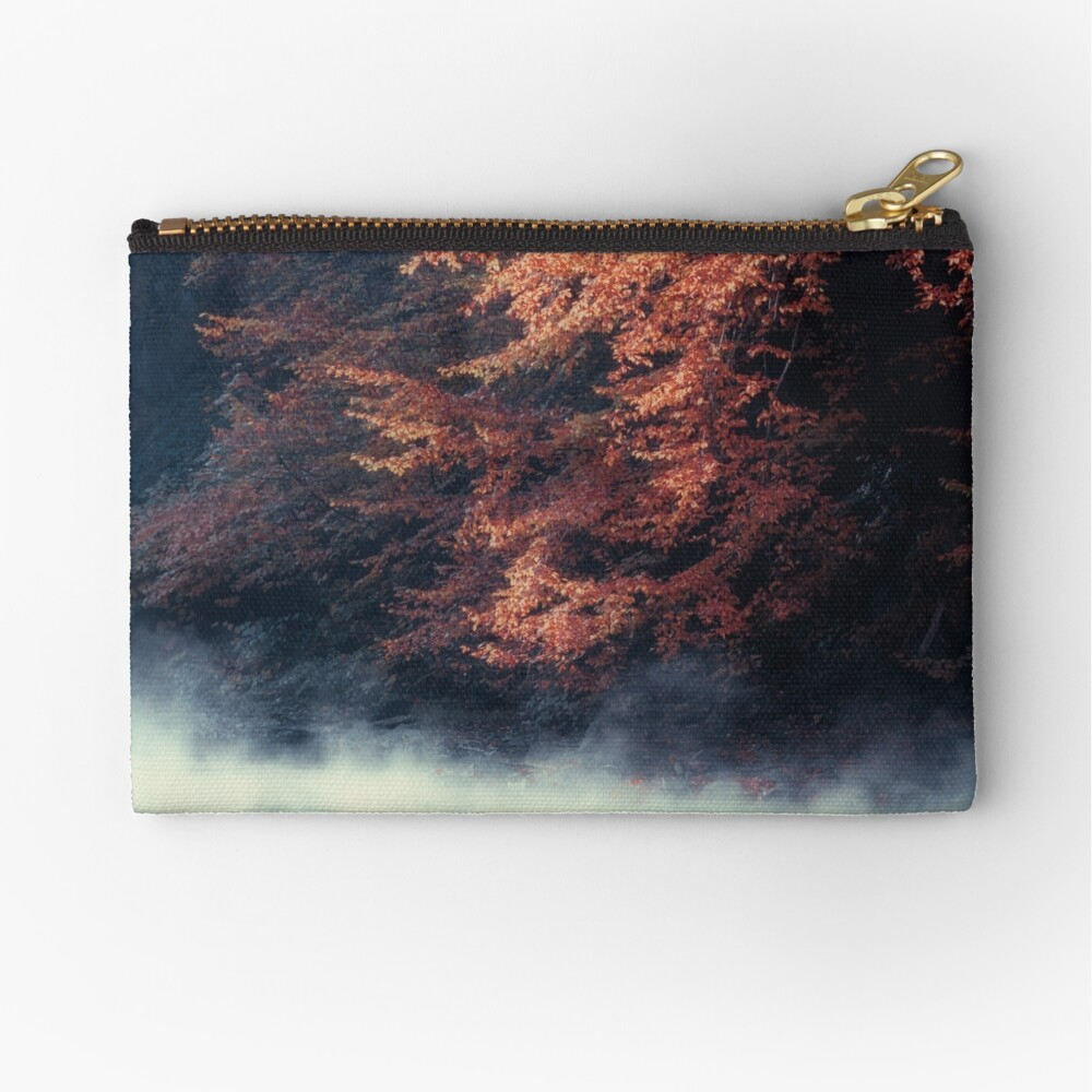 Nature*s Mirror - Fall at the River Zipper Pouch