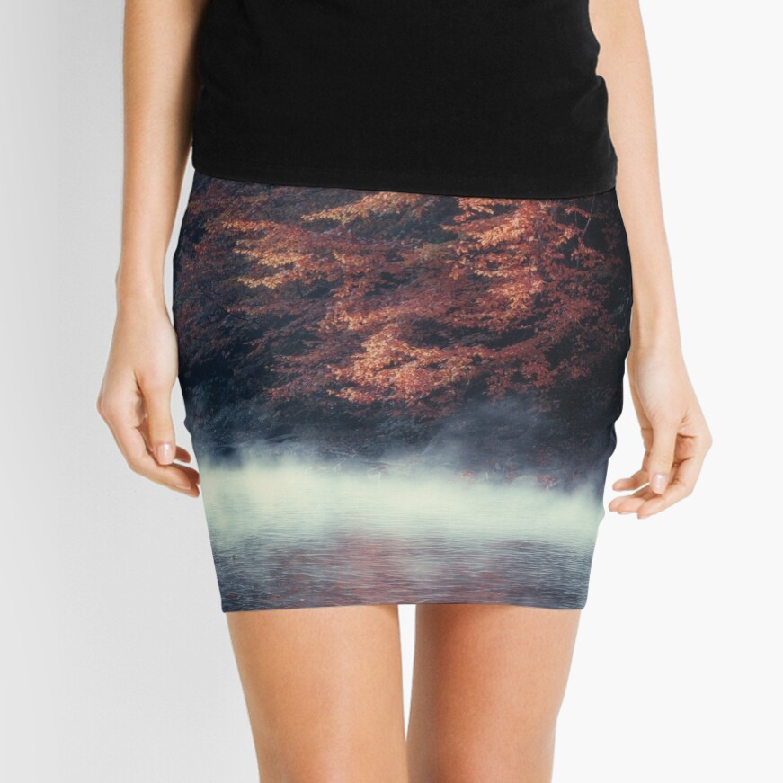 Nature*s Mirror - Fall at the River Mini Skirt