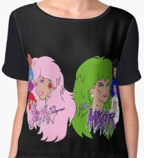 Jem and the Holograms Vs The Misfits Women's Chiffon Top