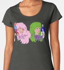 Jem and the Holograms Vs The Misfits Women's Premium T-Shirt