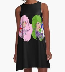 Jem and the Holograms Vs The Misfits A-Line Dress