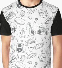 Hand drawn music seamless Graphic T-Shirt