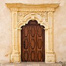Decorated Door at Cathedral of San Carlos Borromeo by Yair Karelic