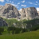 The Sella Massif and Pisciadù waterfall by Yair Karelic