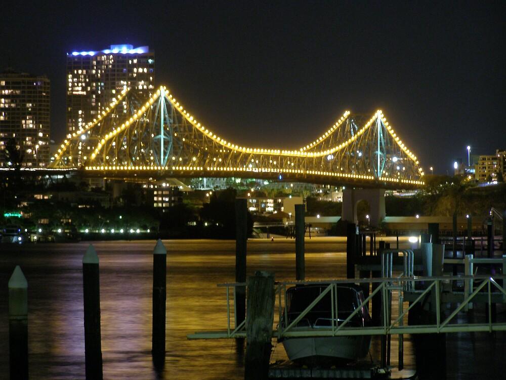 Story Bridge at Night II by kira