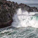 Huge Wave at Los Hervideros, Lanzarote by Yair Karelic