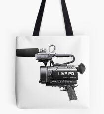 Live PD Camera Gun Tote Bag