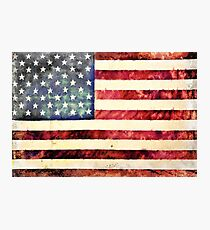Vintage American Flag Photographic Print