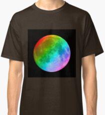 Rainbow colored full moon Classic T-Shirt