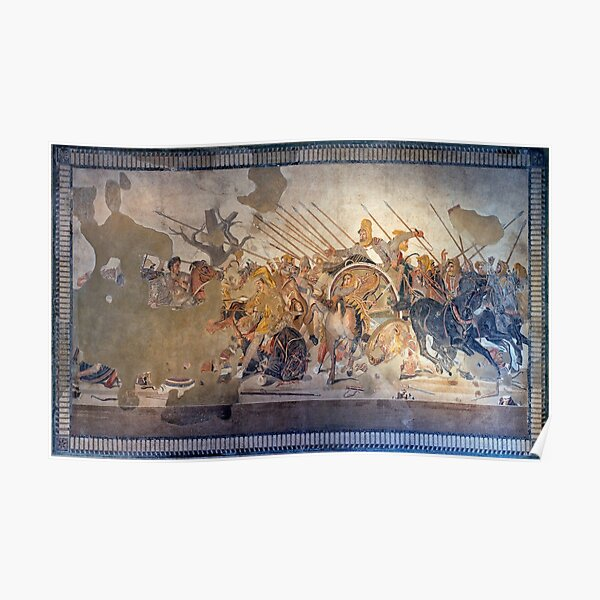 Battle of Alexander the Great and Darius III mosaic  Poster