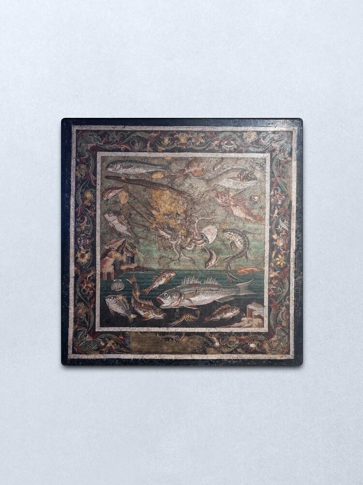Alternate view of Marine Scene with Fish mosaic  Metal Print