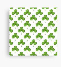 trifoliate clover doodle pattern Canvas Print