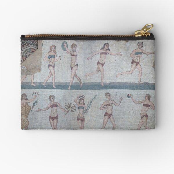 Bikini Girls Mosaic - Villa Romana del Casale Zipper Pouch