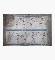 Bikini Girls Mosaic - Villa Romana del Casale Photographic Print