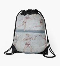 Bikini Girls Mosaic - Villa Romana del Casale Drawstring Bag