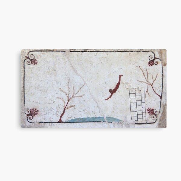 Tomb of the Diver, Paestum Canvas Print