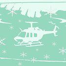 winter helicopter by XxKikixX