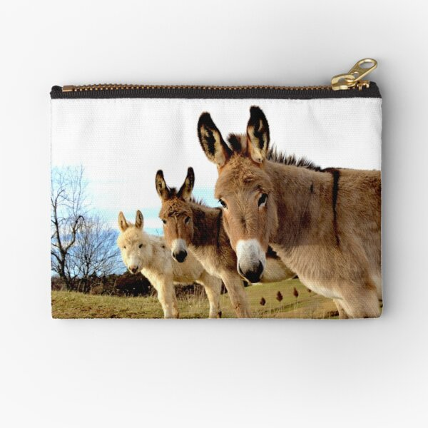 Donkey Trio Zipper Pouch