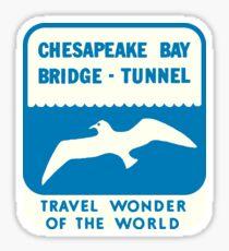 Chesapeake Bay Bridge Tunnel Vintage Travel Decal Sticker
