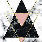 Geo glam marble by peggieprints