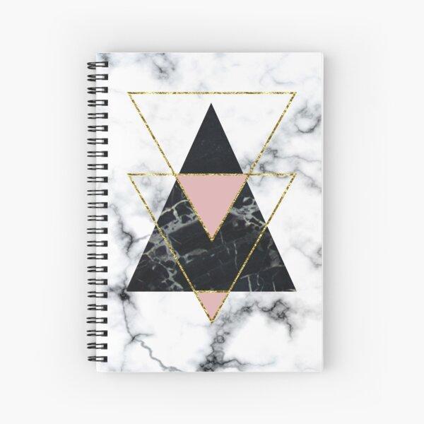 Geo glam marble Spiral Notebook