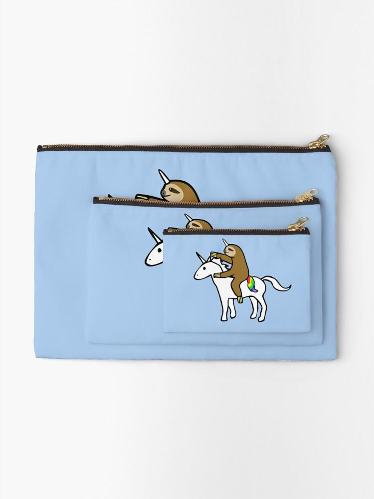 Vista alternativa de Bolsos de mano Slothicorn Riding Unicorn