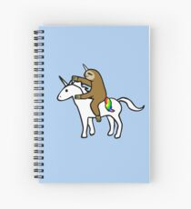 Slothicorn Riding Unicorn Spiral Notebook