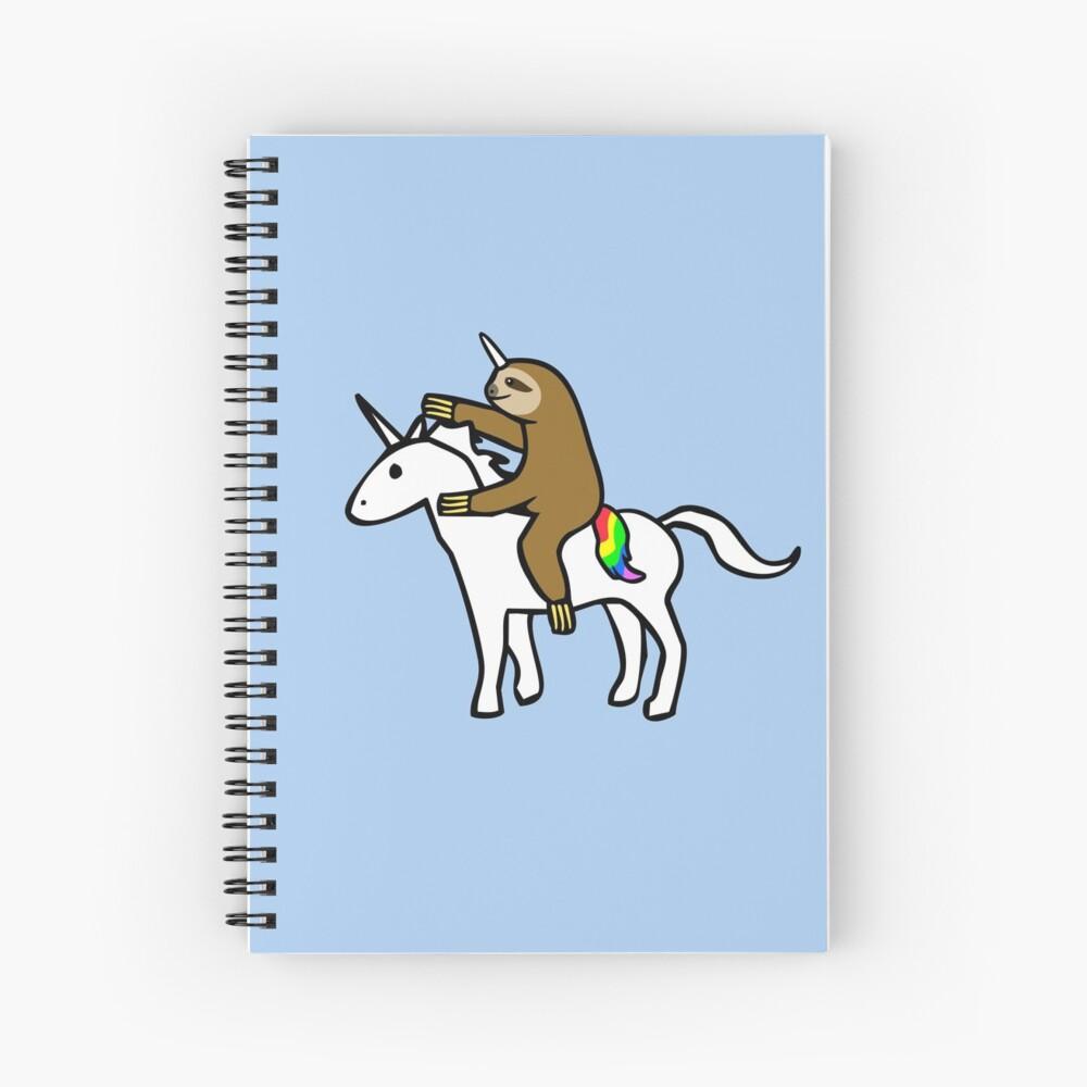 Slothicorn Riding Unicorn Cuaderno de espiral