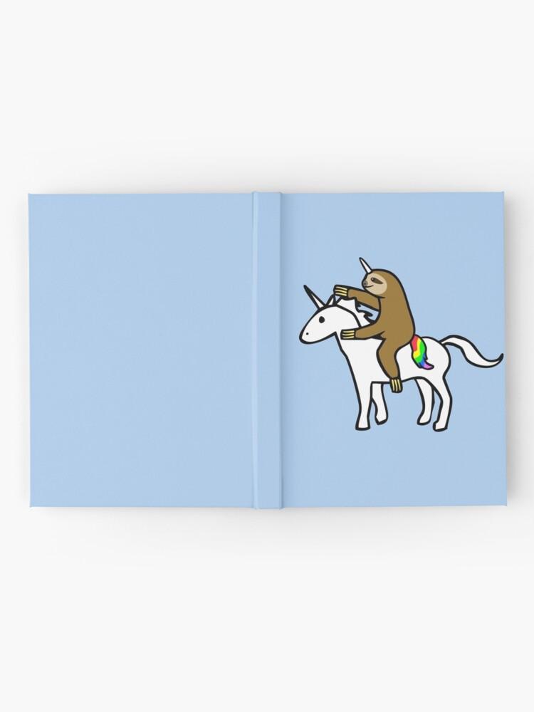 Alternate view of Slothicorn Riding Unicorn Hardcover Journal