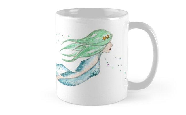 Aqua Mermaid by bethanyrobyn