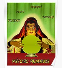 PSYCHIC READINGS: Gypsy Fortune Teller Print Poster